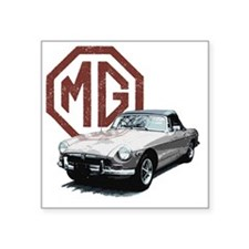 "Mg Midget Square Sticker 3"" x 3"""