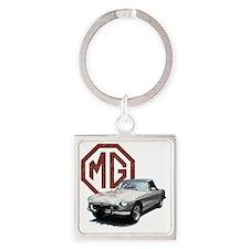 Mg Midget Square Keychain