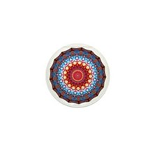 Funky Artsy Bold Bright Colourful Mini Button