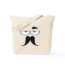funny mustache Tote Bag