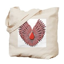 Coral Feathers Tote Bag