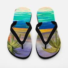 Tropical Sunset Flip Flops