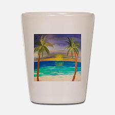 Tropical Sunset Shot Glass