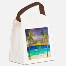 Tropical Sunset Canvas Lunch Bag