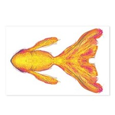 Gold Fish Sketch Postcards (Package of 8)