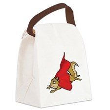 Flying Super Squirrel with Red Ca Canvas Lunch Bag