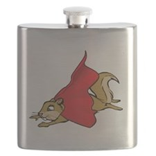 Flying Super Squirrel with Red Cape Flask