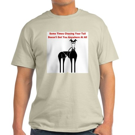 CHASIN' YOUR TAIL MENS NATURAL TEE