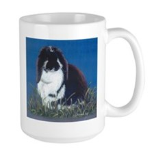 French Lop Bunny rabbit Large Mug, right side art