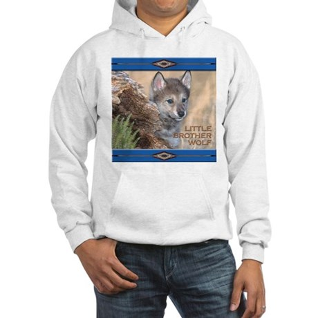 Little Brother Wolf Hooded Sweatshirt