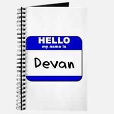 hello my name is devan Journal