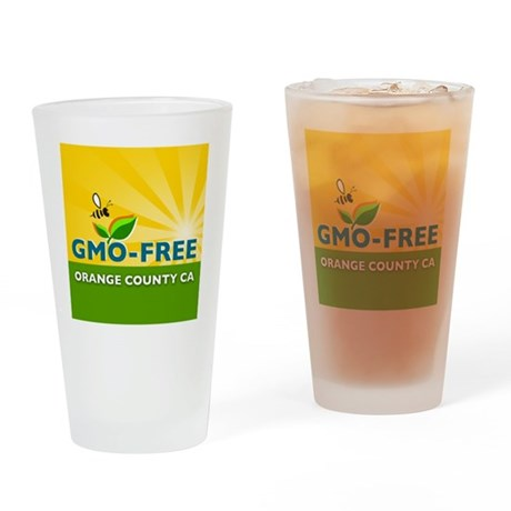 GMO-Free OC Official Apparel Drinking Glass