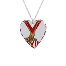 V Twin motorcycle red Necklace