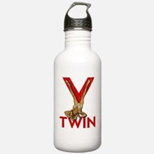V Twin motorcycle red Water Bottle