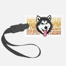 Love a Malamute Luggage Tag
