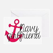 Navy Girlfriend Greeting Card