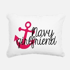 Navy Girlfriend Rectangular Canvas Pillow