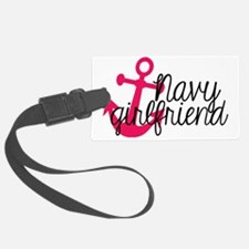 Navy Girlfriend Luggage Tag