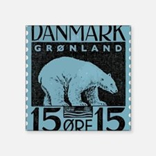 "2001 Greenland Polar Bear P Square Sticker 3"" x 3"""