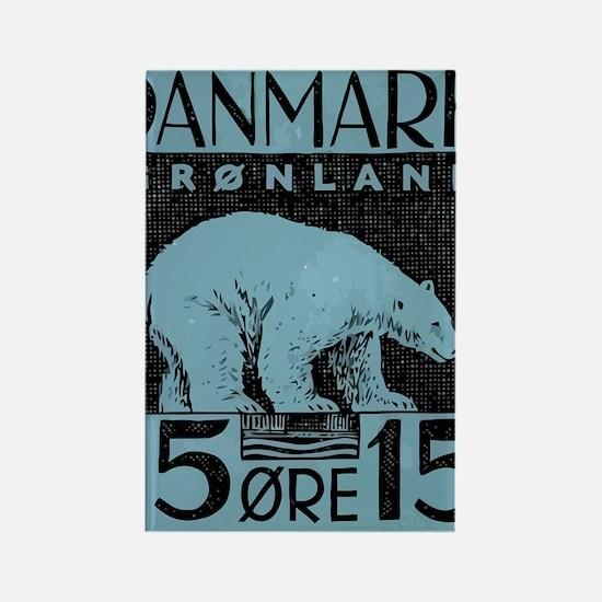 2001 Greenland Polar Bear Postage Rectangle Magnet