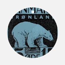 2001 Greenland Polar Bear Postage S Round Ornament