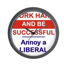 WORK HARD AND BE SUCCESSFUL ANNOY A LIB Wall Clock