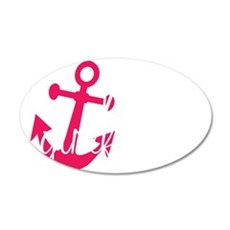 Navy Girlfriend 35x21 Oval Wall Decal