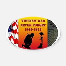 Vietnam War Memorial Oval Car Magnet