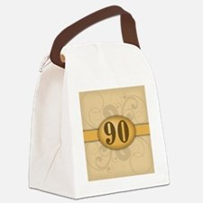 90th Birthday / Anniversary Canvas Lunch Bag