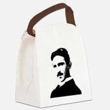 Tesla White Mens Longsleeve Canvas Lunch Bag