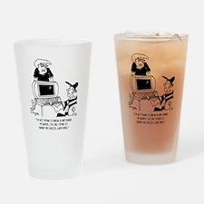 Hacking into School Menu Drinking Glass