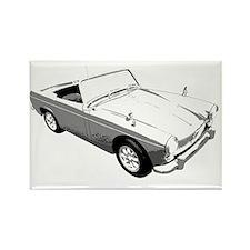 MG Midget Sportscar Rectangle Magnet