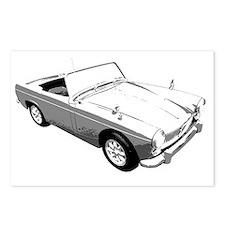MG Midget Sportscar Postcards (Package of 8)