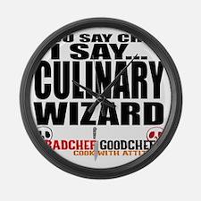 I am a Culinary Wizard Large Wall Clock