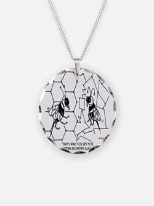 Bee Skips Geometry Class Necklace