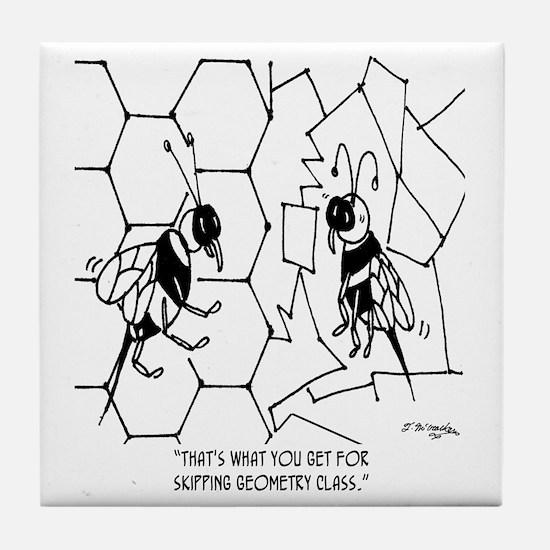 Bee Skips Geometry Class Tile Coaster