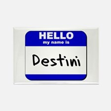 hello my name is destini Rectangle Magnet