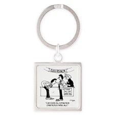 Cheating at School Reunion Square Keychain