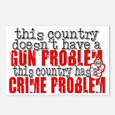 crime problem Postcards (Package of 8)