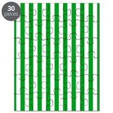 Green and White Striped Puzzle