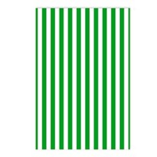Green and White Striped Postcards (Package of 8)