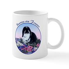 French Lop rabbit & Flowers Mug, right side art