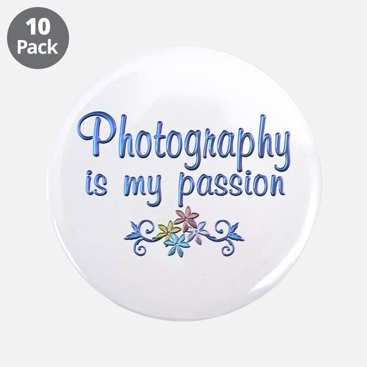 """Photography Passion 3.5"""" Button (10 pack)"""