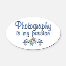 Photography Passion Oval Car Magnet