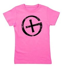 Geocache symbol distresssed Girl's Tee