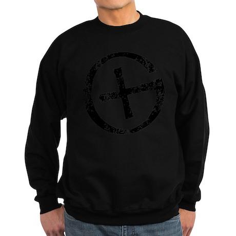 Geocache symbol distresssed Sweatshirt (dark)