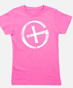 Geocaching symbol distressed Girl's Tee