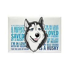 Love a Husky Rectangle Magnet