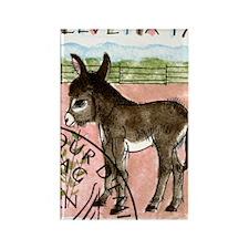 Vintage 1995 Switzerland Donkey P Rectangle Magnet