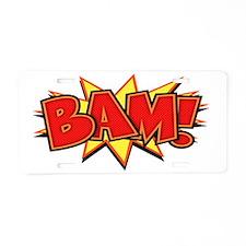 bam3-CAP Aluminum License Plate
